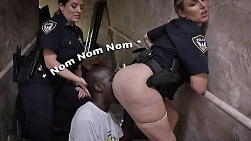 Green white striped tape - Black patrol - illegal street racers get busted by white milf cops