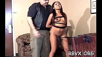 Petite girl becomes bounded slave in hot thraldom scene 5分钟