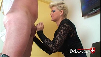 Blonde Scarlet Young fucked by dildo salesman