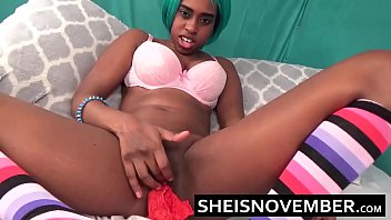 Petite Little Hot Black Girl Msnovember Cute Butt Is Sitting Horny In Her Bedroom Touching Her Young Pussy Learning Her Body The A Very Wet Pussy Squirt Orgasm HD Sheisnovember