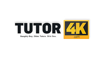 TUTOR4K. Classy tutor with natural tits dragged into sex with student