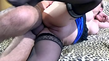 Mature Lady in Stockings likes fuck a big cock
