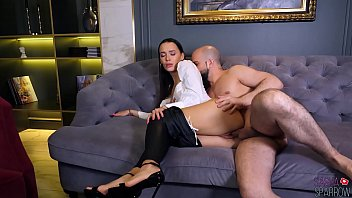 Sexy Brunette Blowjob and Sensual Ass Fucking - Cum on Pussy
