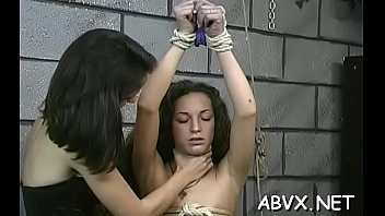 Amateur babe with precious forms naughty bondage porn play