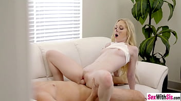 Teen stepsister sucks stepbrothers big cock for money