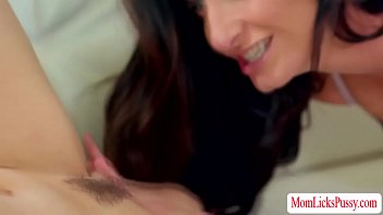 Hot stepmom fingered and licked by stepdaughter