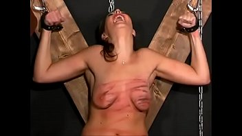 Tit beaten Extreme torture, whipping and destruction of her breasts