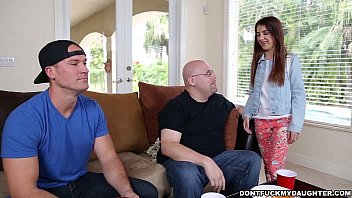 thumb teen sally squi  rt gets dicked down by daddy  down by daddy