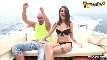 MAMACITAZ - Moisex Bangs Outdoor On A Boat With His Sexy Wild Latina Girlfriend Alexa Nasha