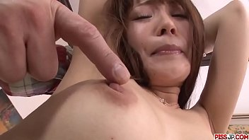 Maomi Nakazawa gets the dick in both her tiny holes - More at Pissjp.com