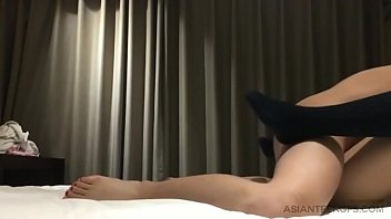 Masked Chinese slut gets fucked in doggystyle