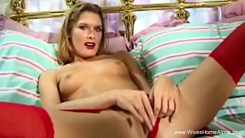 Red Lips MILF Housewife Seduction Moment Alone While