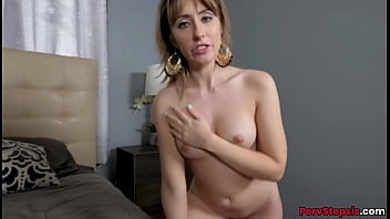 Blonde stepsister Daphne Dare fucked by younger virgin stepbrother in POV