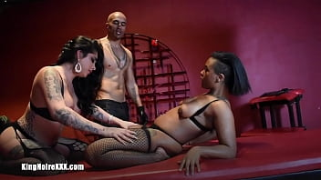 """Big Black Dick Dominates & Fucks Cis and Trans Women In BDSM Threesome   King Noire Jane Marie Avery Jane """"King & The 2 Janes"""" <span class=""""duration"""">76 sec</span>"""