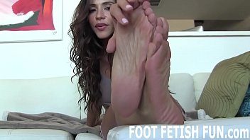 Shoot that hot cum right on my beautiful feet