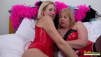 OldNannY Two Mature Lesbians and Latex Sex Toys thumbnail