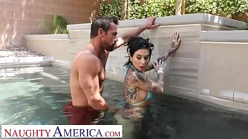 Fuck pool side Naughty america - kassandra kelly joanna angel fucks trainer when hubby ignores her