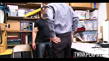 Young Gay Twink Boy Mall Cop Has Sex With A Shoplifting Straight Big Muscles Jock