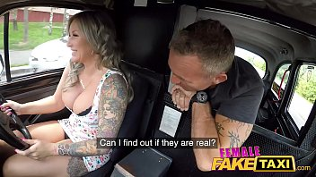 Amazonian female escorts in london Female fake taxi passenger is fascinated by her big boobs