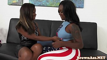 Black booty threeway fun until a sticky end
