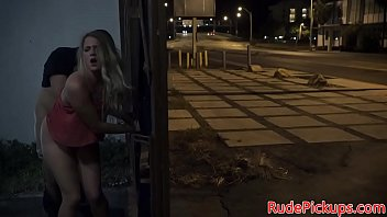 Cute stranded teen gets roughfucked