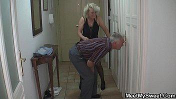 Czech blonde is tricked into mature threesome