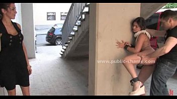 Sex slave humiliated in public Blonde humiliated in public bondage sex on the streets and on bus in hard anal