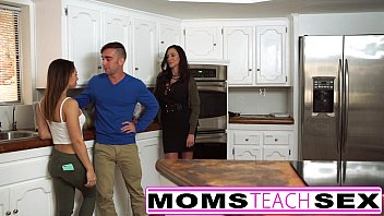 Mother fucks son and tiny Latina girlfriend