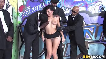 Tori Lux Gets Her Face Gangbanged By Big Black Cocks