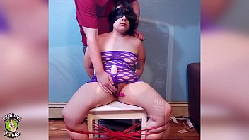 BLINDFOLDED, TIED UP to a CHAIR, and left to CUM! *Full Version on XVIDEOS RED!*