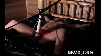 Young honey enjoys being torned and strapped for the camera