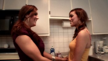 Innocent-looking Melanie Rios was seduced liquorish Francesca Le for some Sapphic games on the kitchen