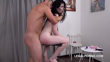 Mr. Anderson's Anal Casting with Black Angel Ball Deep Action, ATM, Rough Sex, Cum in Mouth GL054