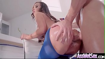 (Nikki Benz) Horny Girl With Big Ass Get Oiled And Anal Nailed clip-24