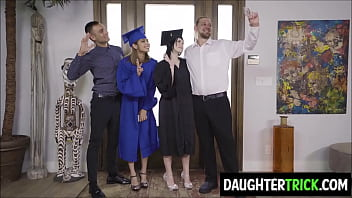 Dads bang their graduating daughters