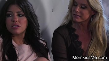 Hot girl get fingered at night by stepmom