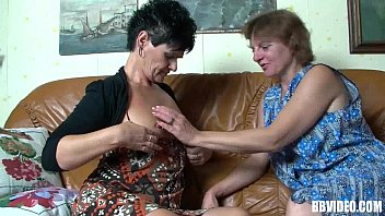 Two mature german sluts sharing cock in threesome thumbnail