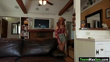 Busty cowgirl gets fucked by her cowboy