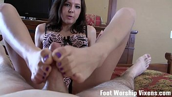 POV footjob from your horny roommate