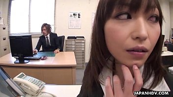 Lady Tsubaki is a sexual freak who gets creamed at the office 68 sec