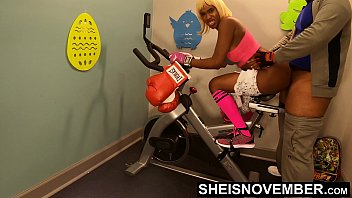 16692 4k Rough Painful Anal For Cute Black Spinner With Big Ass , Young Babe Msnovember Fucked By Old Coach Doggystyle In Public Gym Fucking Hard On Exercise Bike To Train Her Asshole HD Sheisnovember preview