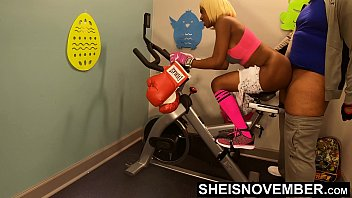 4k Rough Painful Anal For Cute Black Spinner With Big Ass , Young Babe Msnovember Fucked By Old Coach Doggystyle In Public Gym Fucking Hard On Exercise Bike To Train Her Asshole HD Sheisnovember صورة