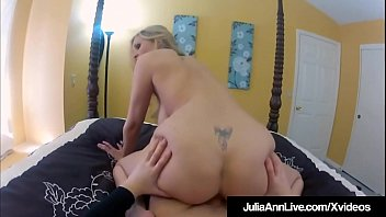 Boy cums while being fucked video - Busty blonde milf julia ann filmed fucking with spy cam