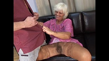 grandma hairy gangbang - Mature hairy granny in absolute sex with young .