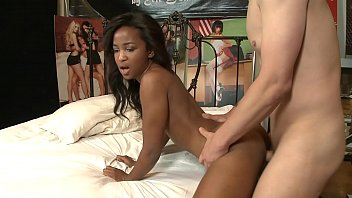 Ebony model Ivy Sherwood gets it rough and cum all over her tits