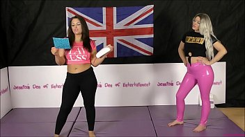 Bra and Panties Match (Strip-Wrestling Match) w, Loser gets strapped in a nappy (diaper)!! ~ Hannah Rose vs Tamara Hunt | (Featuring Roxi Keogh)
