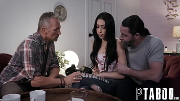 Petite Judy Jolie Fucked Her Stepdad and His Friend