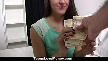 TeensLoveMoney - Spanish Waitress Fucked For Money | Video Make Love