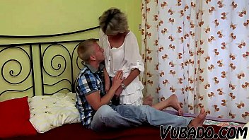 Grama fucking young boy Young boy fucks mature lady in bedroom