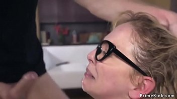 Blonde Milf Humiliated And Hardcore Fucked By Young Boy